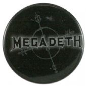 Megadeth - 'Logo Black' Button Badge